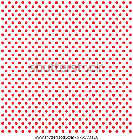 Pop Art Pattern Red Dots On Stock Vector 573593110