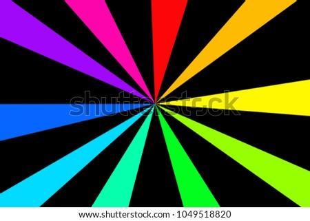 pop art rainbow background retro comic stock vector royalty free