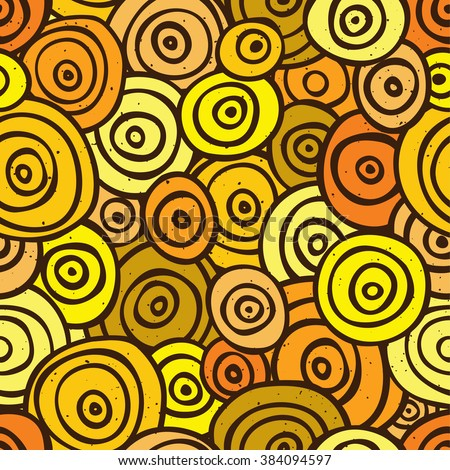 Pop art retro seamless vector background pattern yellow