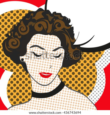 pop art retro woman. girl in a comic book style. vector illustration