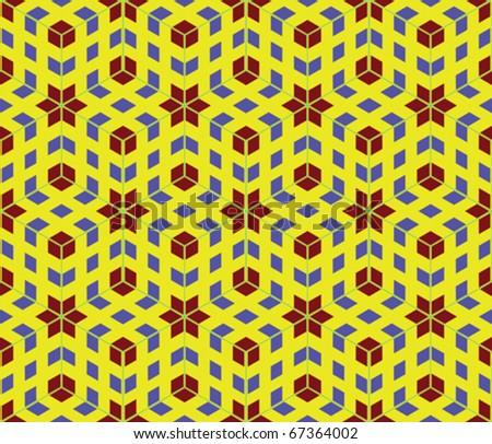pop art seamless pattern, abstract texture; vector art illustration - stock vector