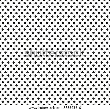 Pop Art Seamless Pattern Black Dots On White Background Halftone Color