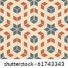 pop art seamless texture, abstract pattern; vector art illustration - stock vector