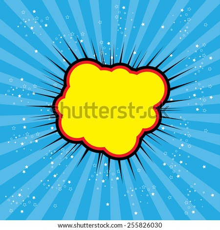 pop art text bubble cloud, illustration in vector format different trendy colors. this also represents a big bang, thunder, emphatic explosion, roaring voice, scream, booming vehicle, big sound - stock vector