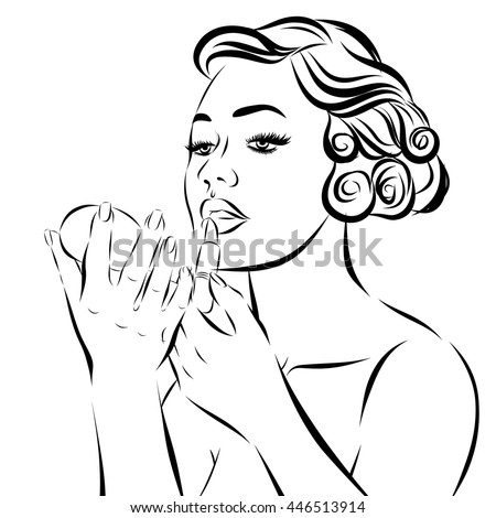 Pop Art Woman - on a white background. Vector - stock vector