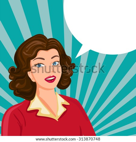 Pop Art  Woman. Vector  - stock vector