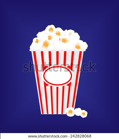 Pop corn box vector design