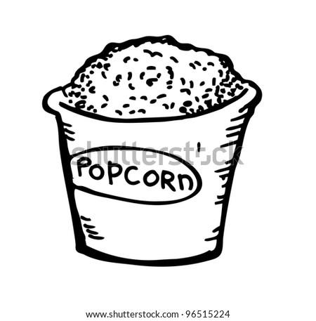 pop corn doodle - stock vector