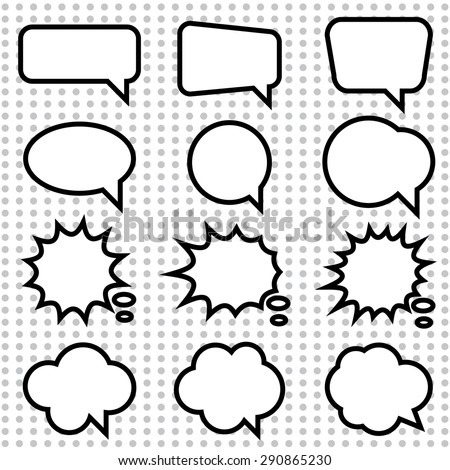 pop-up bubble with shadow on grey background - stock vector