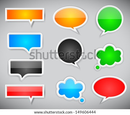 pop-up bubble with shadow on grey background. Vector background. - stock vector