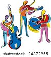 popart abstract musicians - stock vector