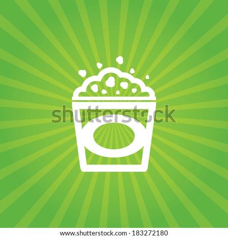 Popcorn background - stock vector