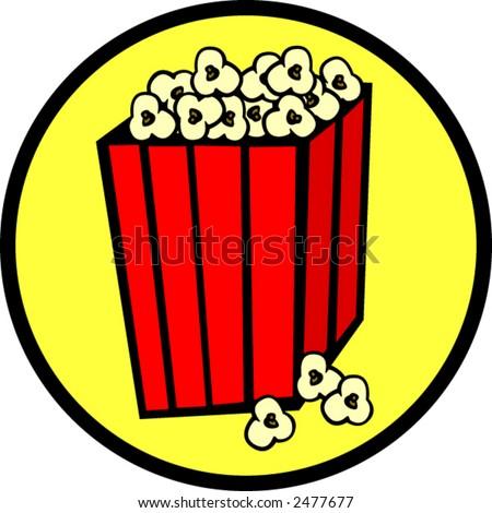 popcorn bag - stock vector