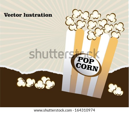 popcorn design over grunge background vector illustration - stock vector