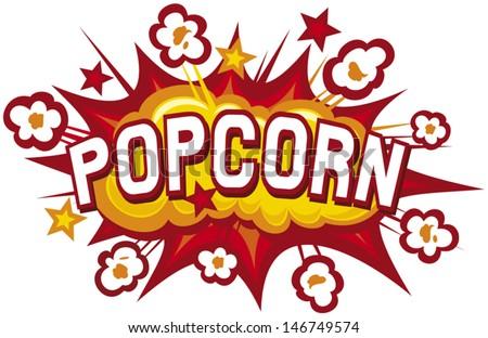 popcorn design (popcorn illustration, popcorn symbol, popcorn explosion) - stock vector