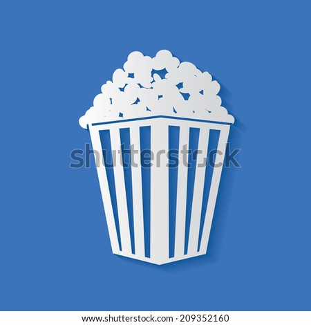 Popcorn symbol,clean vector - stock vector