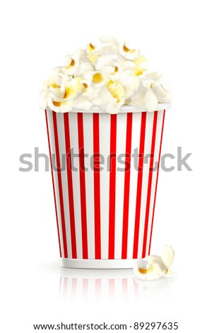 Popcorn, vector - stock vector