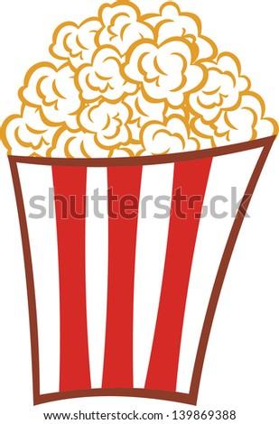 Popcorn vector illustration - stock vector