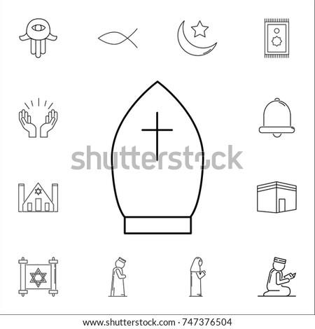 Pope Hat Icon Set Of Religion Icons Web Premium Quality Graphic Design