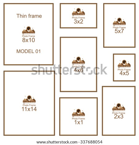 common picture frame sizes 8x10 stock images royalty free images amp vectors 28836