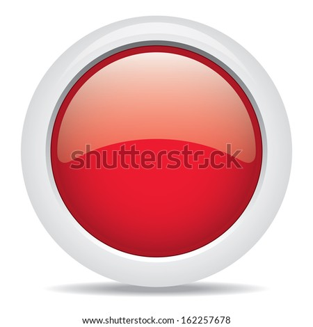 popular red color web button 3d vector - stock vector