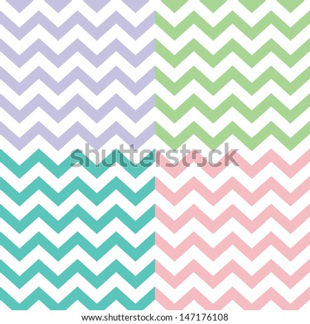 popular zigzag chevron pattern - stock vector