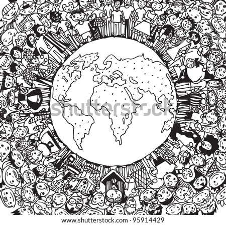 Population of Our World (vector eps10) - stock vector
