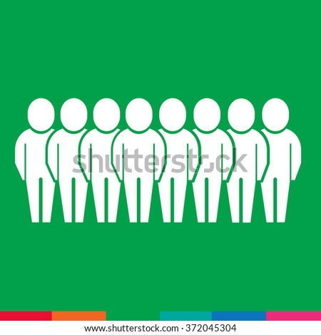 Population People Icon Illustration design