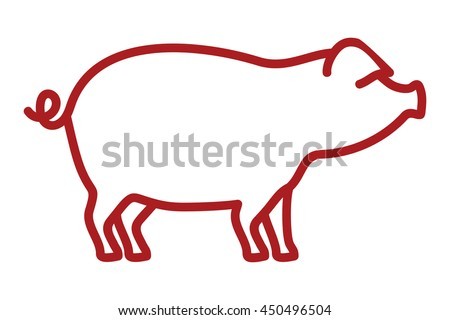 Pork outline vector icon