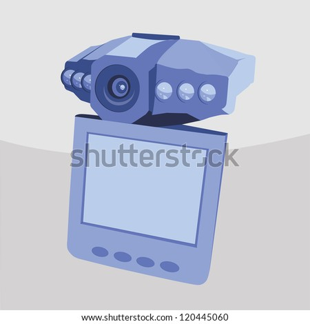 Portable digital video recorder - stock vector