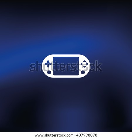 Portable game pad icon. - stock vector