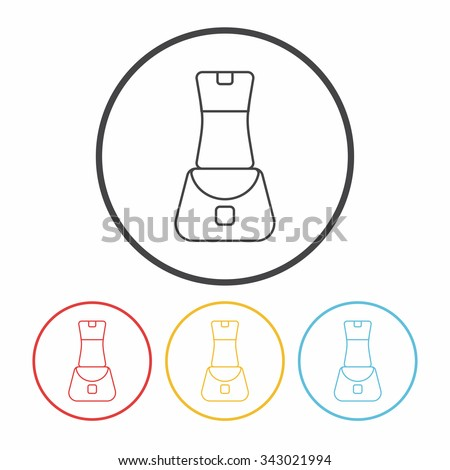 Portable Juicer line icon - stock vector
