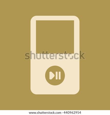 Portable Media Player Icon. Eps-10. - stock vector
