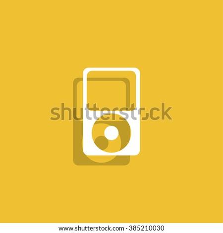Portable media player icon. Flat design style. Vector EPS 10 - stock vector