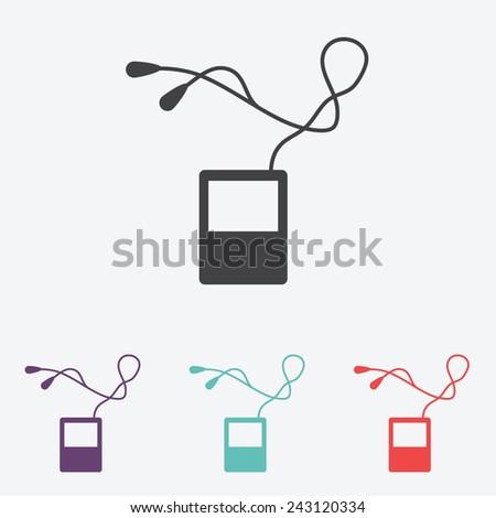 portable music device - stock vector