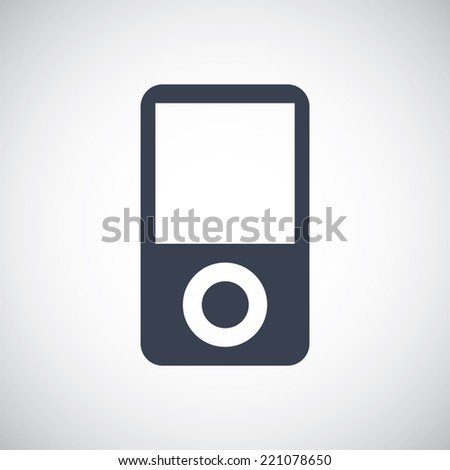 Portable Music Device MP3 Player symbol icon. Vector pictogram. Simple flat metro design style. esp10 - stock vector