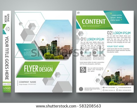 Portfolio design template vector.Minimal brochure report business flyers magazine poster.Abstract box square on cover book presentation.City concept on A4 size layout.
