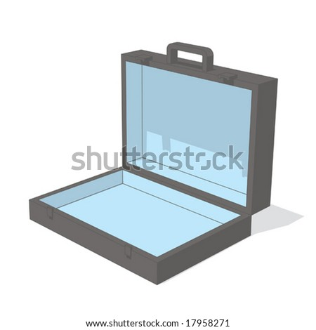 portfolio (gray & blue object series) - stock vector
