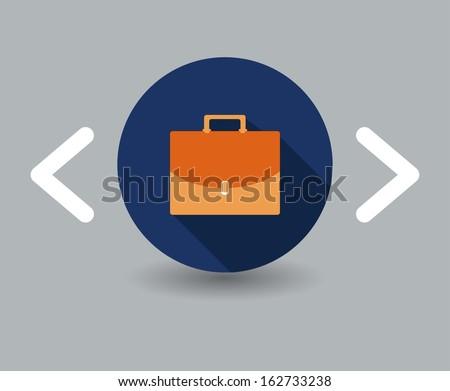 portfolio icon - stock vector