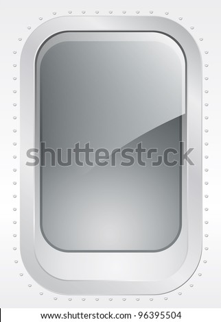 Porthole of a plane or ship, external view - vector illustration Eps10 - stock vector