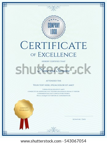 Certificate Of Excellence Stock Images, Royalty-Free Images