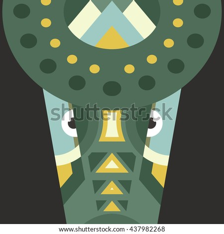 Portrait of a crocodile made in trendy flat style vector. African animal. Safari label or t-shirt design with cute animal character. - stock vector