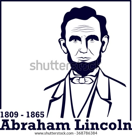 Portrait of Abraham Lincoln. American president, vector illustration - stock vector