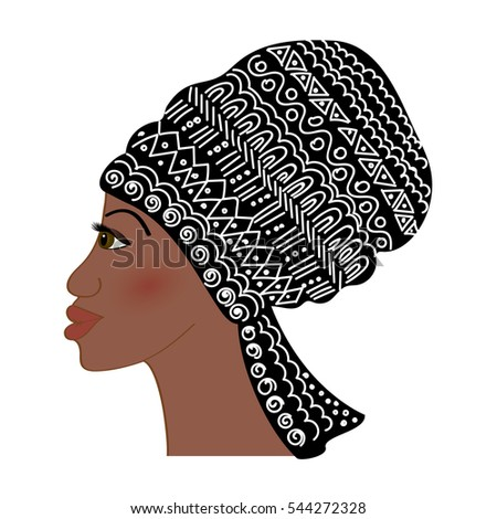 Portrait of beautiful African woman (profile view)