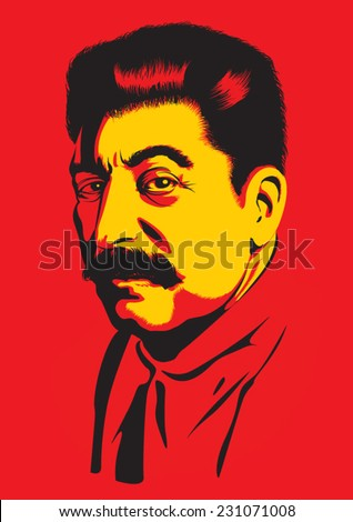Portrait of Joseph Stalin - stock vector