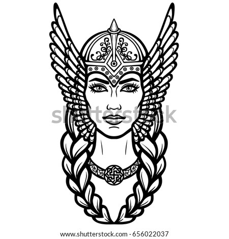 how to draw a valkyrie