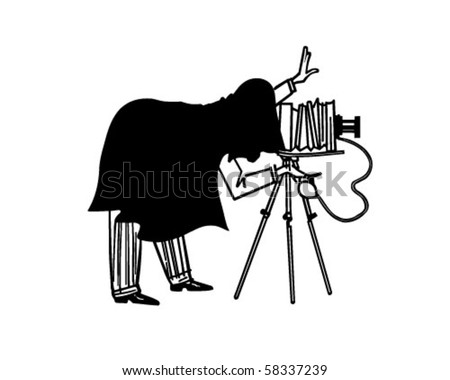 Portrait Photographer - Retro Clip Art - stock vector