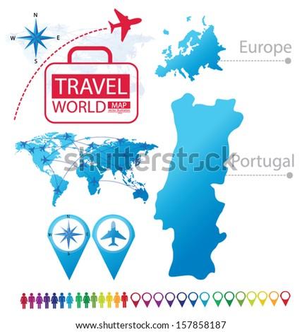 Quotmap Portugalquot Stock Photos RoyaltyFree Images - Portugal globe map