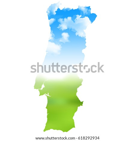 Portugal Map Mosaic Stock Vector Shutterstock - Portugal map icon