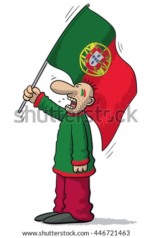 Portugal soccer supporter
